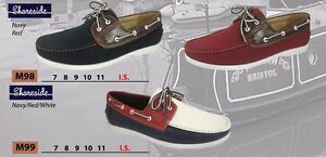 Shoreside-Mens-Deck-Shoes-Navy-Red-Navy-Red-White-Boating-Casual-BNIB