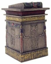 "5.75""  Egyptian Canopic Shrine Trinket Box Egypt Decor Statue Sculpture"