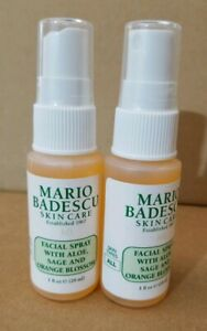 Details About 2x Mario Badescu Facial Spray Aloe Sage Orange Blossom 1 Oz Travel Sample