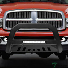 Topline For 20022003 2009 Dodge Ram Avt Aluminum Led Bull Bar Guard Matte Blk Fits 2005 Dodge Ram 1500