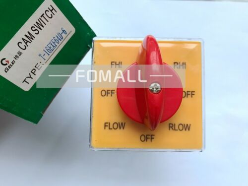 2PCS New GELEI T-16EXF64D-6 Universal Changeover Combined Rotary Switch