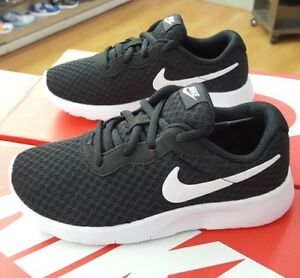 best website 81ad3 702db Image is loading NIKE-TANJUN-PS-818382-011-BLACK-WHITE-PRESCHOOL-