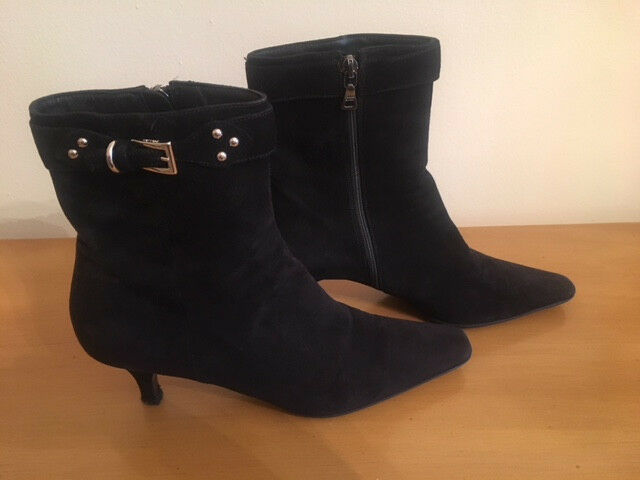 PRADA Black Suede Ankle Boots Size US7 EUR EUR EUR 37 35e13a