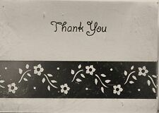 25 THANK YOU NOTES Cards Wedding Silver Anniversary Blank Elegant Stylish New