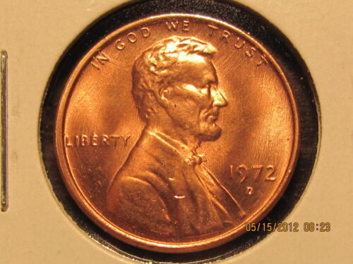 1972 D Lincoln  Memorial Cent from BU Roll-Tempting