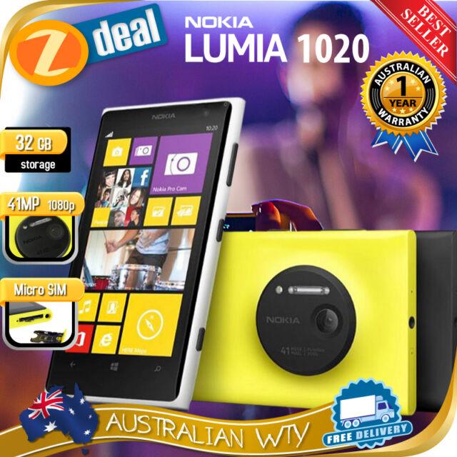 (NEW SEALED BOX) NOKIA LUMIA 1020 4G LTE UNLOCKED WINDOWS PHONE 12MTH OZ WTY