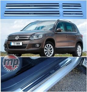Volkswagen VW Tiguan TDi Polished Steel Kick Plate Car Door Sill