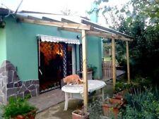 Pergola addossata in legno 5x3, copertura tettoia gazebo, arredo giardino