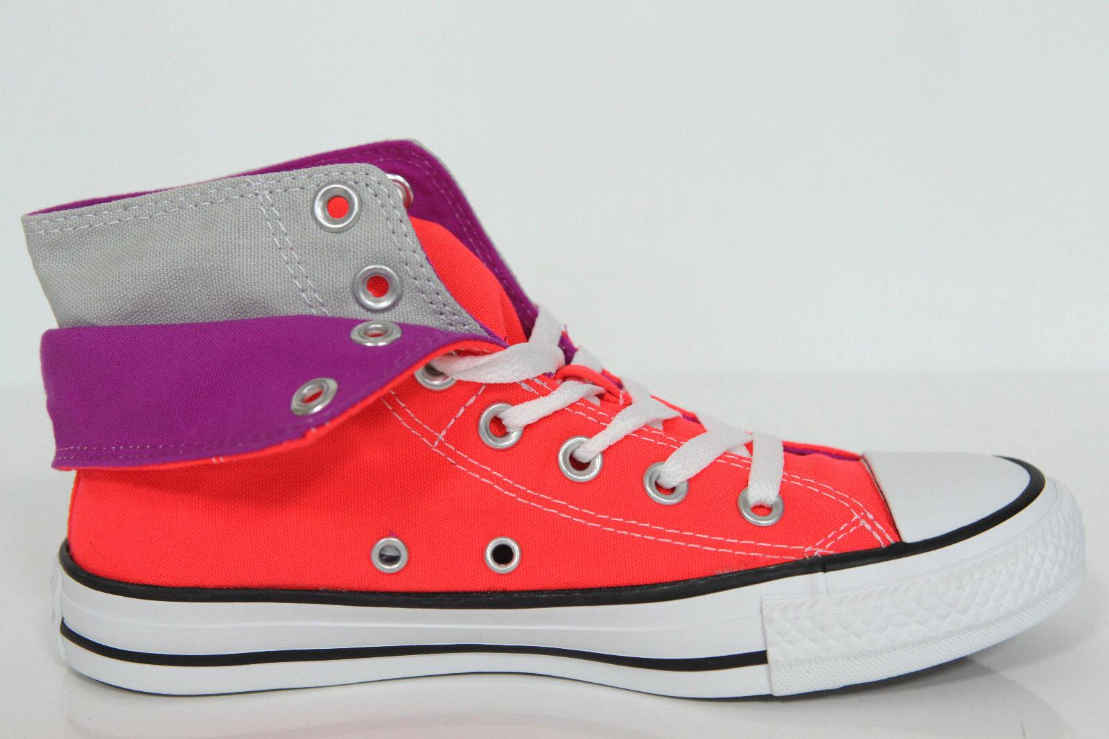 Nuevo All Star Converse Chucks Hi lino + cuero cortos señora muchos modelos de colores