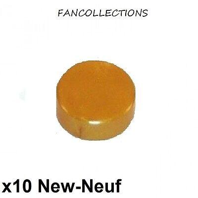 rond lisse 1x1 trans-orange Tile Round LEGO x 5 98138 NEUF