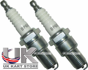 NGK-BP6ES-Spark-Plug-x-2-Honda-GX160-GX200-UK-KART-STORE