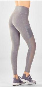 FABLETICS-Women-039-s-MILA-Blue-HIGH-WAISTED-POCKET-Cropped-Leggings-Medium