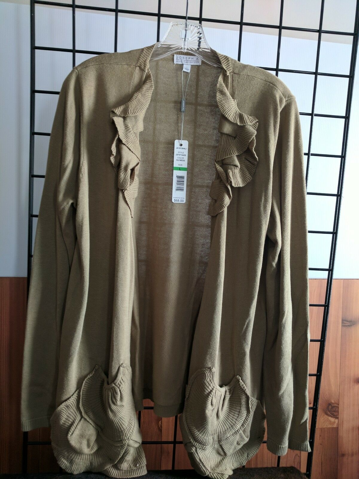 JOSEPH A SIZE LARGE SWEATER OLD MOSS COLOR NWT