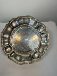 VINTAGE EMBOSSED SILVER PLATED FRUIT BOWL