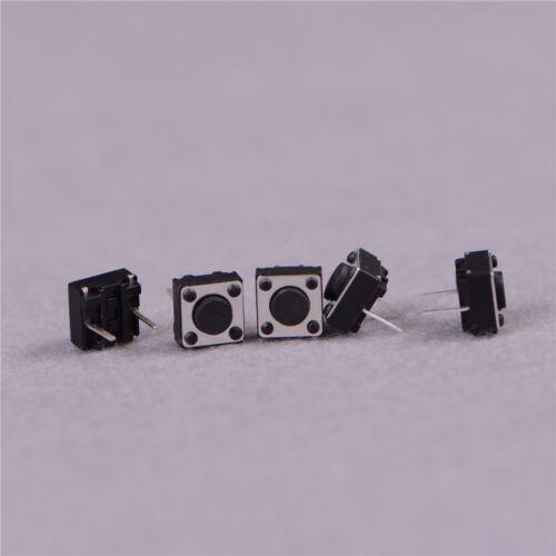 100Pcs Momentary Tactile Tact Push Button Switch 2 Pin DIP 6x6x4.3mm High 4.3/_sg