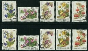 1988-Russia-Stamps-Two-Complete-Sets-SC-5687-5691-with-Cancellation-MINT-NH