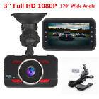 HD 1080P 3'' In Vehicle Car Dash Camera Video Recorder Cam DVR HDMI G-sensor UK