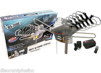 Long Range 360 Degree Outdoor Digital Hdtv Ufh Vhf Amplified Tv Antenna + Remote