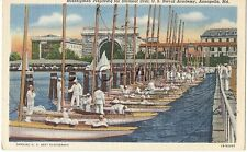 Org Vintage 1930s-45 PC- Sailor- Cadet- Naval Academy- Annapolis MD- Sailboat