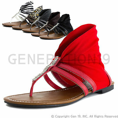 Womens T-Strap Gladiator Thong Wrap Sandals Better (Adults 6 7 8 9 10 11)