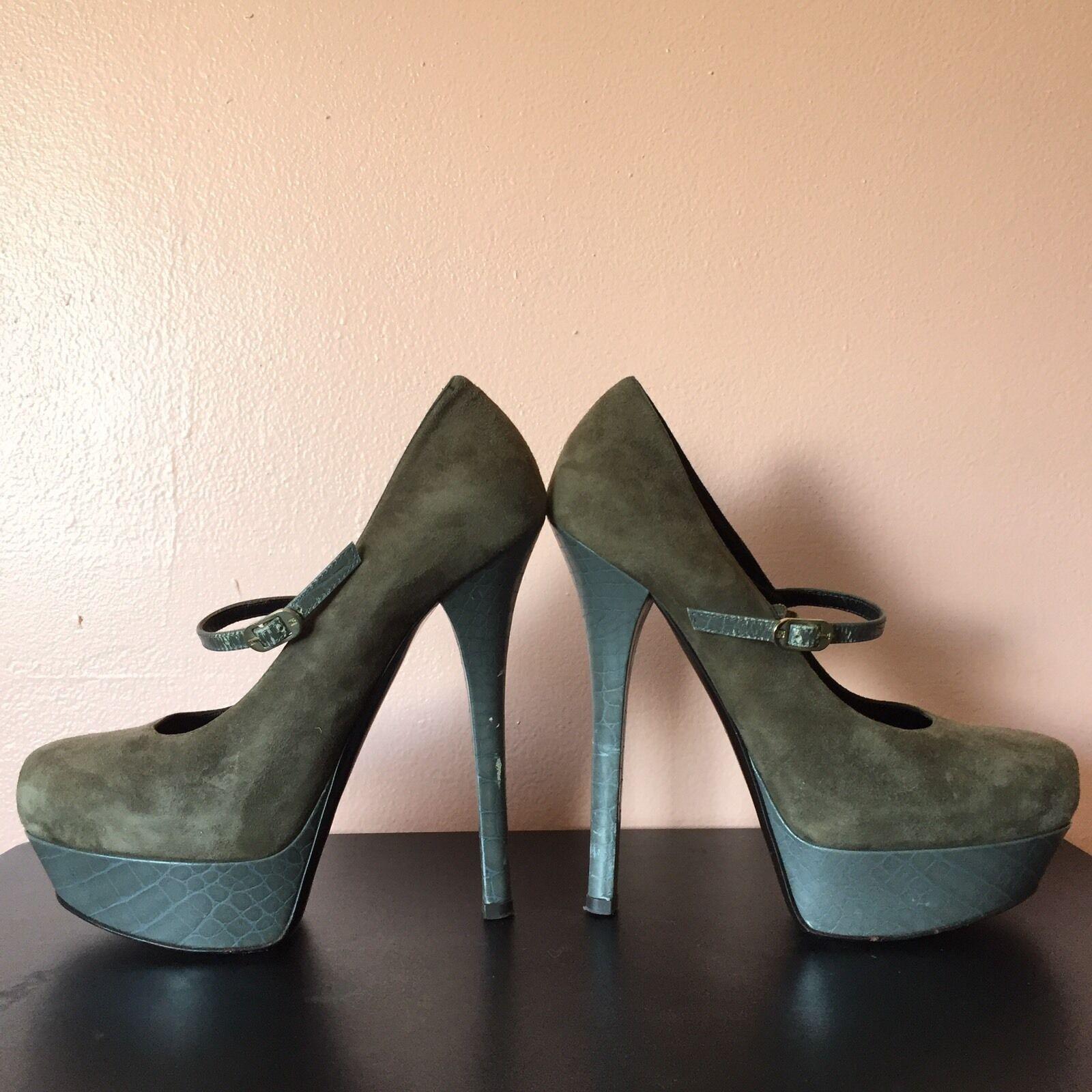consegna lampo Fendi Mary Jane Jane Jane Platform Heels MSRP  875  qualità autentica