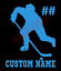 Custom-Hockey-Player-Number-Name-Vinyl-Decal-Window-Sticker-Car thumbnail 2