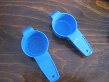 2 Tupperware Mini Tea Time Strainer Gadgets Sifters Tub Toy Kids NEW Blue