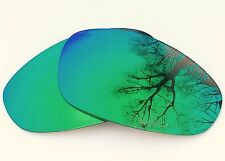 ENGRAVED POLARIZED GREEN CUSTOM MIRRORED REPLACEMENT OAKLEY JULIET LENSES