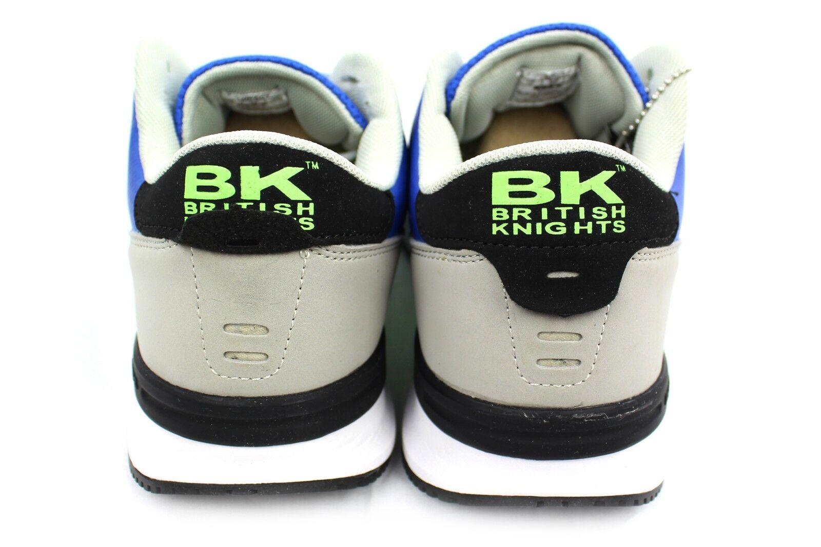 Beige & Braun Bnib Herren Canvas Leather Low Top Sneakers