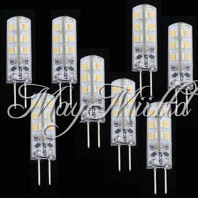 G4 Warm White SMD 3014 24 LED Cabinet Spot Light Lamp Bulb DC 12V 1.5W J