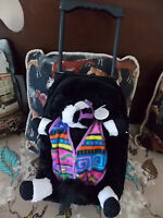 Flex Rider By Intec Rolling Backpack Removable Plush Horse Handle Black Multi