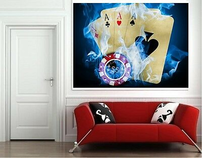 POKER GIANT ART PICTURE PRINT POSTER WHOLE POSTER A0