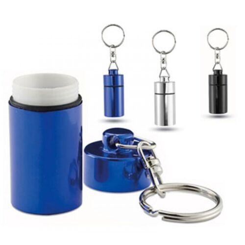 2x Schlüsselanhänger Pillenbox Pillendose Tablettendose Medikamentendose Blau H