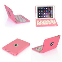 New For iPad Mini 1 Foldable Wireless Bluetooth Keyboard Stand Case Cover Pink