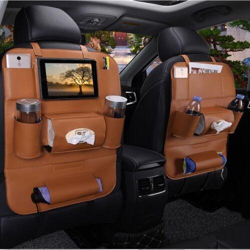 1X Autositztasche Rückenlehnentasche Auto Organizer Rücksitz Tasche Schutzmatte
