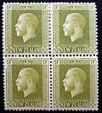 New Zealand Kat. 145a&c MNH/MLH **/* Block of Four KGV 1915 Kat. 170 Euro