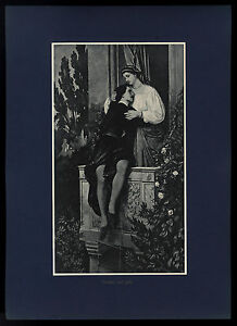 Romeo und Julie Julia Anselm Feuerbach Kunstdruck 1911 - Hamburg, Deutschland - Romeo und Julie Julia Anselm Feuerbach Kunstdruck 1911 - Hamburg, Deutschland