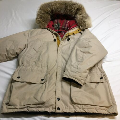 VTG Nautica Fur Leather Trim White N3B Down Insula