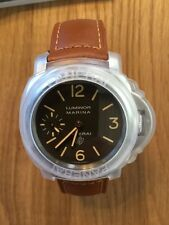 UNWORN PANERAI PAM 632 LOGO ACCIAIO 44 mm LUMINOR MARINA BROWN DIAL PAM 00632