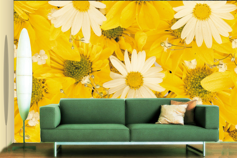 3D Golden Daisy  89 Wall Paper Murals Wall Print Wall Wallpaper Mural AU Kyra