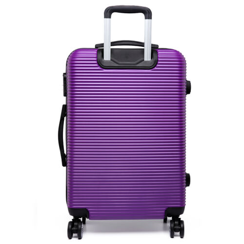 Coque dure Valise trolley 4 roues Léger Voyage bagages Horizontal Stripe