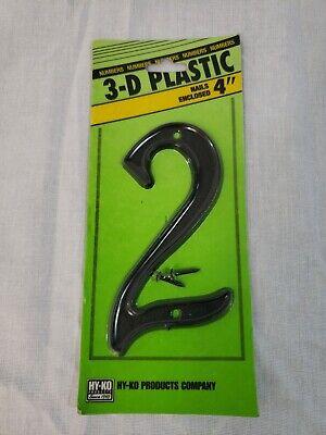 Hillman 839752 4 Black Plastic Number #1