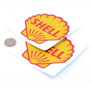 Shell-Stickers-Classic-Car-Motorcycle-Racing-Sticker-1950s-Vinyl-Decals-100mm-x2