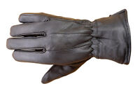 Premium Lambskin Mens Winter Driving Dress Gloves Thermal Lined Black Fg1