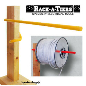 Wire Spool Caddy | Rack A Tiers Electricians Wall Stud Cable Caddy Wire Spool Reel