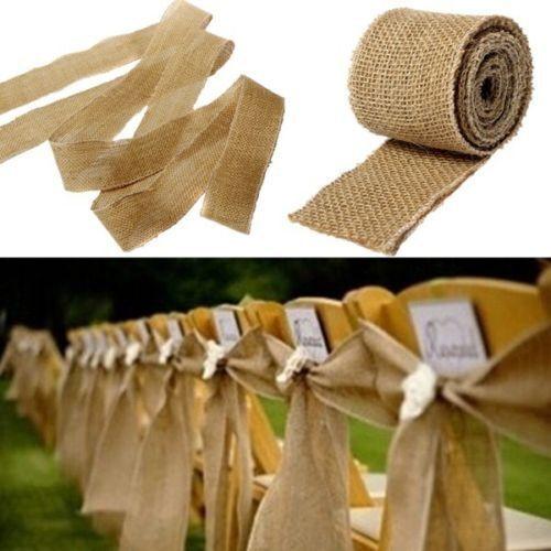 3M natürliche Jute Weddings Gürtel Gurt Floristry Hessische Sackleinen Ribbon