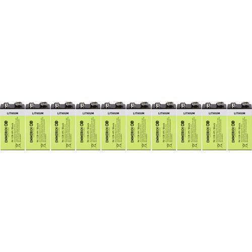 Emmerich industrial 6lr61 batteria da 9 v litio 800 mah 10 pz