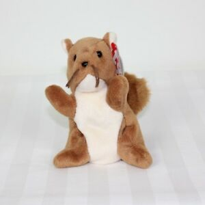 bfe5595194b Image is loading Ty-Beanie-Babies-Nuts-the-Squirrel-1996-Mint