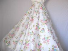 """50'S - 60'S  FULL CIRCLE FLORAL SKIRT LUCY HIP-HOP 31"""" LONG  MADE IN USA SMALL"""