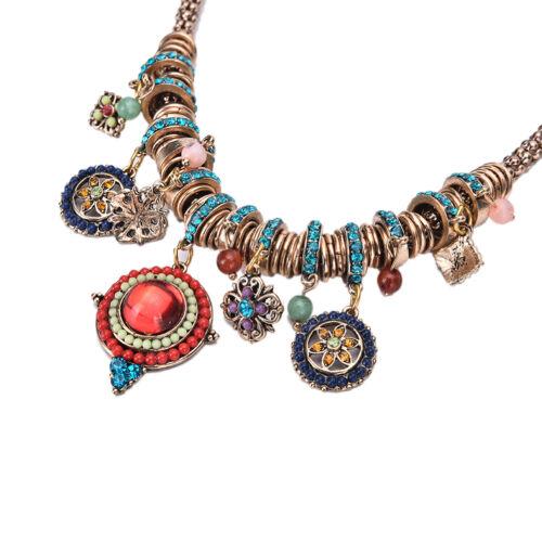 Gypsy Ethnic Tribal Turkish Boho Chain Bid Necklace Tassel Pendant Fringe VP